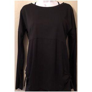 Fabletics Black Jersey Long sleeve top.